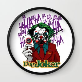 Dog Joker Wall Clock