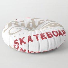 Skater Skateboard Skateboarding Gift idea Floor Pillow