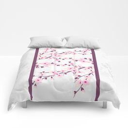 Cherry Blossoms Pink Gray Asiastyle Comforters