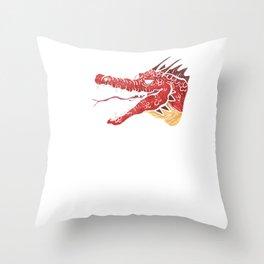 Awesome Papa Dragon Fearsome Dragon Fantasy Dad Throw Pillow