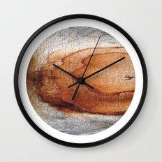 Planetary Bodies - Rust Wood Wall Clock