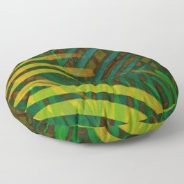 TROPICAL GREENERY LEAVES no6 Floor Pillow