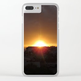 Sunset Divide Clear iPhone Case
