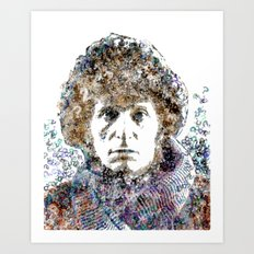Tom Baker Text Portrait Art Print