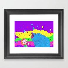 Flippin the bear Framed Art Print