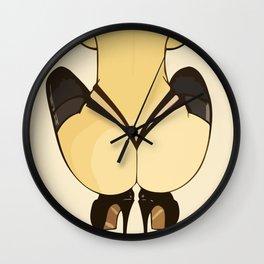 pinup nudity arousing flirtatious inviting kissable provocative provoking racy seductive sensual Wall Clock