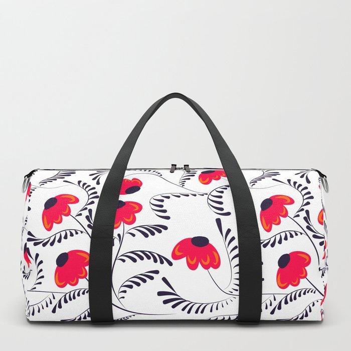 Beauty simple seamless floral pattern swirl Duffle Bag