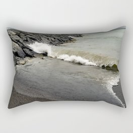 Huron Wave on Breakwall Rectangular Pillow