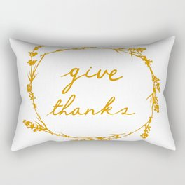 Give thanks crown lettering design Rectangular Pillow