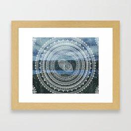 Crystal Mandala - Lake Windermere Landscape Framed Art Print