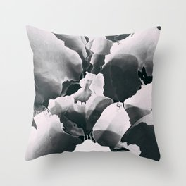 Blooming in black and white Throw Pillow