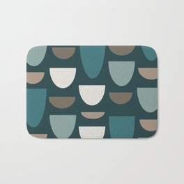 Turquoise Bowls Bath Mat