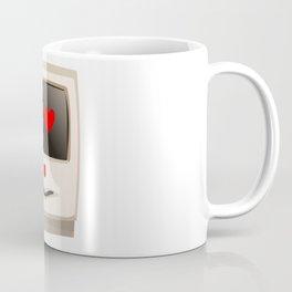Love Face Beige Computer Coffee Mug