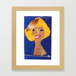 Doris Day #PrideMonth Collage Portrait Framed Art Print