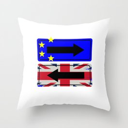 Brexit Great Britain Flag Brexiting European Union British Anti Eu Throw Pillow