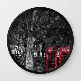 London Town Phone Box Wall Clock