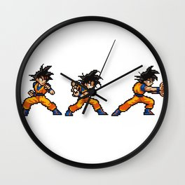 Son Goku 孫 悟空 Kamehameha Bit Wall Clock