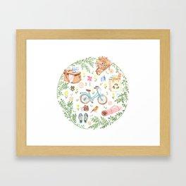 Eco city style Framed Art Print