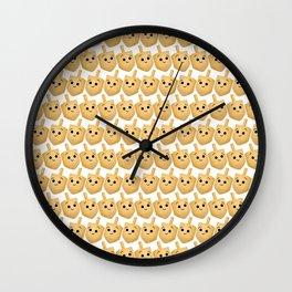 Dreidel Pattern Wall Clock