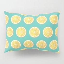 Lemons on green Pillow Sham