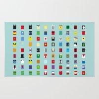 minimalism Area & Throw Rugs featuring Minimalism SH by Fabian Gonzalez