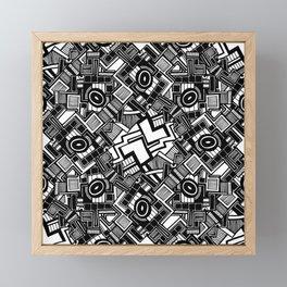 Abstract white and black 12 Framed Mini Art Print