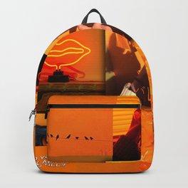 Orange love aesthetic collage Backpack