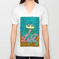 lsd V-neck T-shirts featuring Lsd party 3 by DIVIDUS