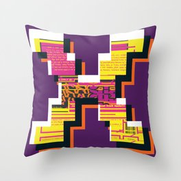 rebranded : monogram Throw Pillow