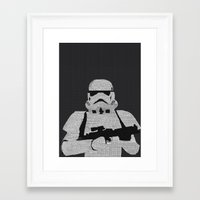 stormtrooper Framed Art Prints featuring Stormtrooper by  Steve Wade ( Swade)