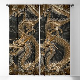Dragon Pentagram Blackout Curtain