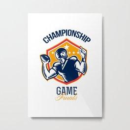 American Football Championship Game Finals Shield Metal Print