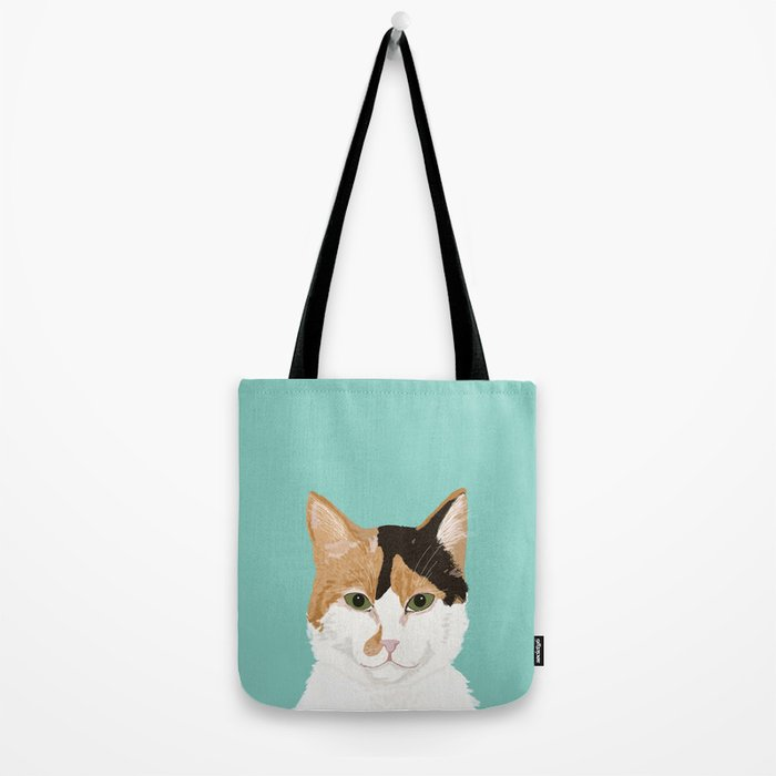 Calico Cat - Cute cat black, white, tan, orange tabby cat, cute kitten Tote Bag