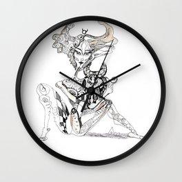 A woman as a sign Taurus Wall Clock