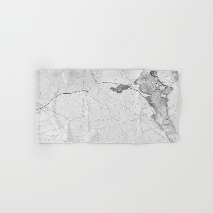 White Marble Hand & Bath Towel