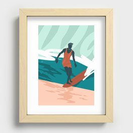 Solo Surf Recessed Framed Print