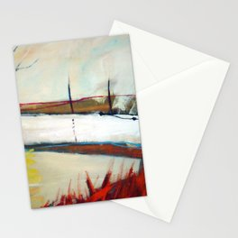 Across the line II Stationery Cards