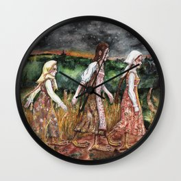 Maidens from the deep forest Wall Clock