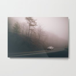 foggy turns in upstate new york Metal Print
