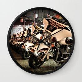Police Motorcycles Wall Clock