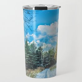 Larch in late autumn Travel Mug