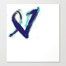 Paintbrush Heart Canvas Print