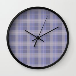 AFE Purple Plaid Pattern Wall Clock