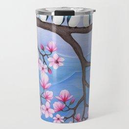 tree swallows & magnolia Travel Mug