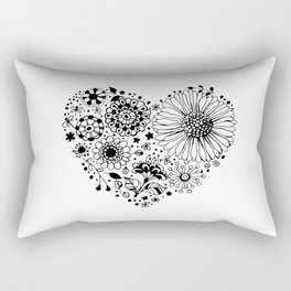 Floral heart Rectangular Pillow