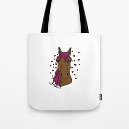 lucky horse mom Riding Horses Mother Present Gift Tote Bag