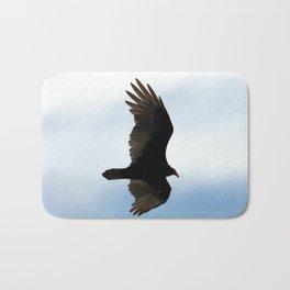 Turkey Vulture in Flight Bath Mat