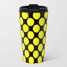 Black yellow polka dot Travel Mug