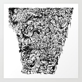 Pile of Hatred, Malice and uncontrollable Madness Art Print