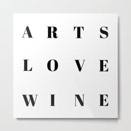 Art Love wine Metal Print